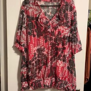 Lane Bryant size 26/28 ladies 2 piece shirt set